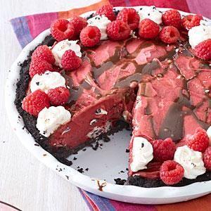 Berry Cookies-and-Cream Ice Cream Pie with an Oreo Crust    MyRecipes