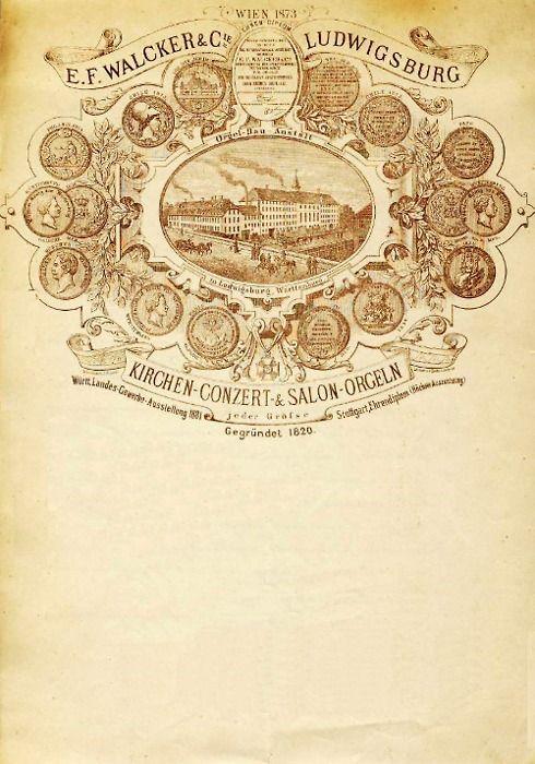 Walcker Orgelbau letterhead