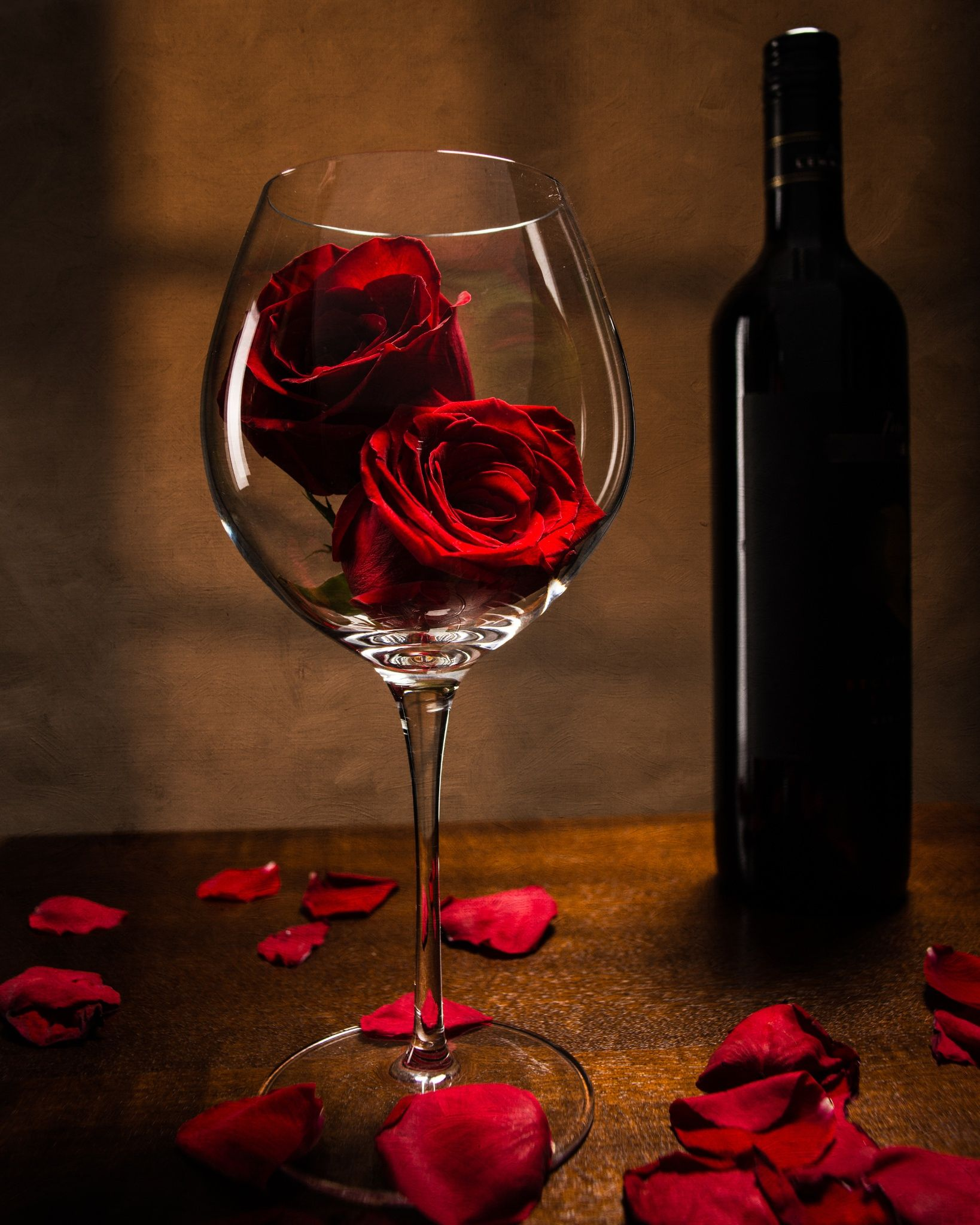 Wine Roses 3 Wine Photography Wine Art Red Roses Wallpaper