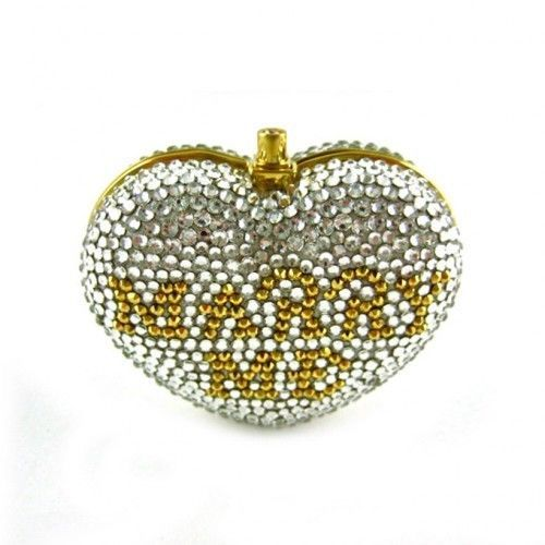 15f89fa3ca1c6 yy Judith Leiber Will You MARRY ME Crystal Heart PillBox NEW SOLD OUT   JudithLeiberLieber  PillBoxPillBox