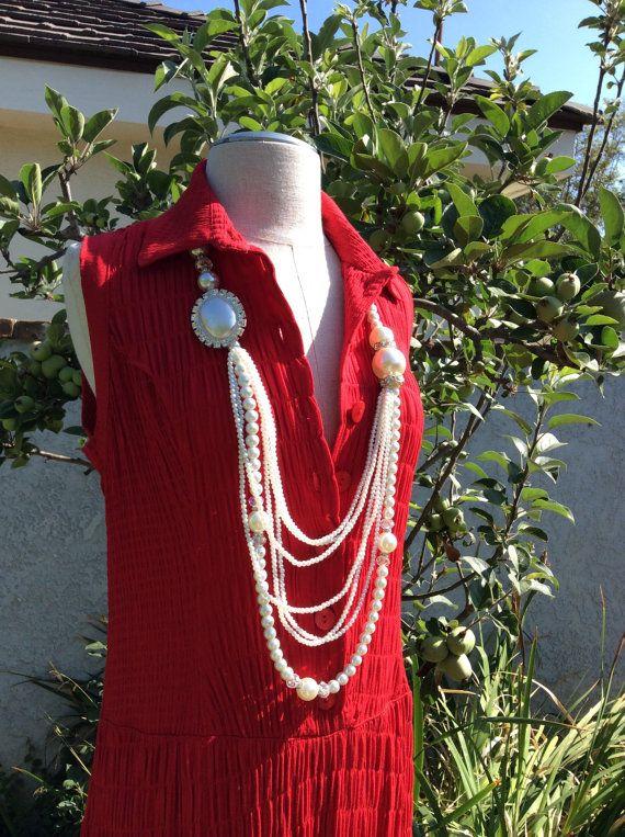 Red Summer  Maxi Sleeveless Rayon Dress by KisKissay on Etsy, $55.00