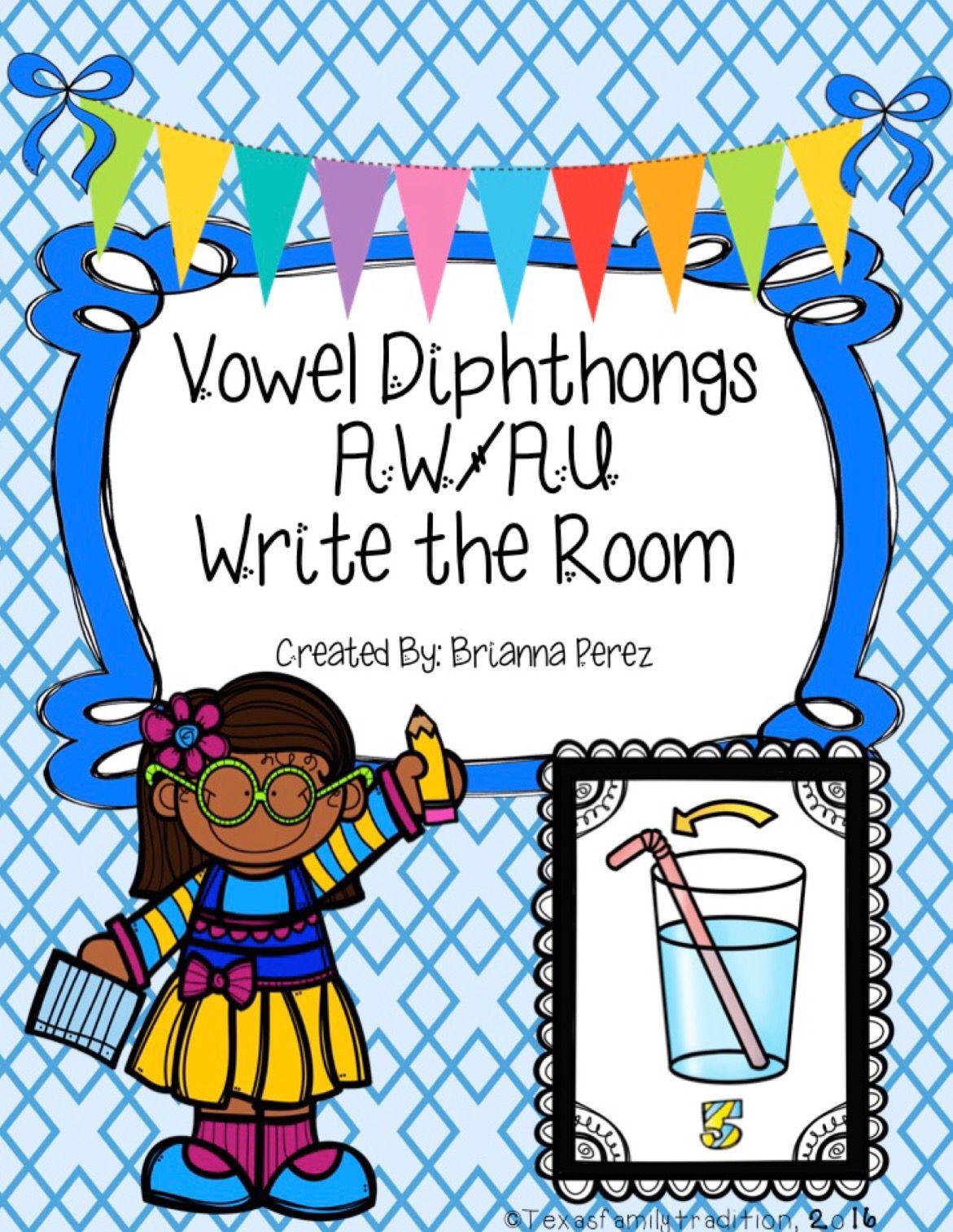 Vowel Diphthongs Aw Au Write The Room