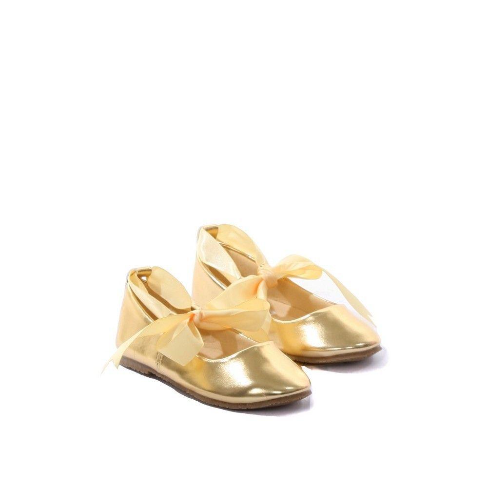 Kids Dream Gold Ballerina Ribbon Tie