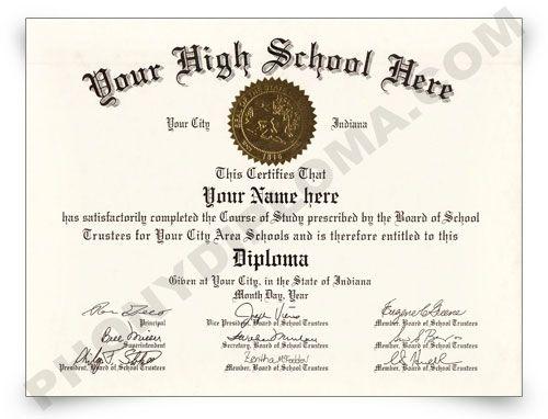 How to make fake high school diplomas