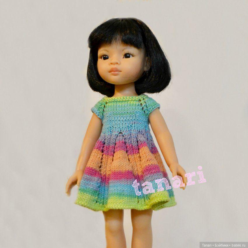 54389440e8d Вяжем спицами платье для Paola Reina. Описание вязания   Вязание для кукол    Бэйбики. Куклы фото. Одежда для кукол