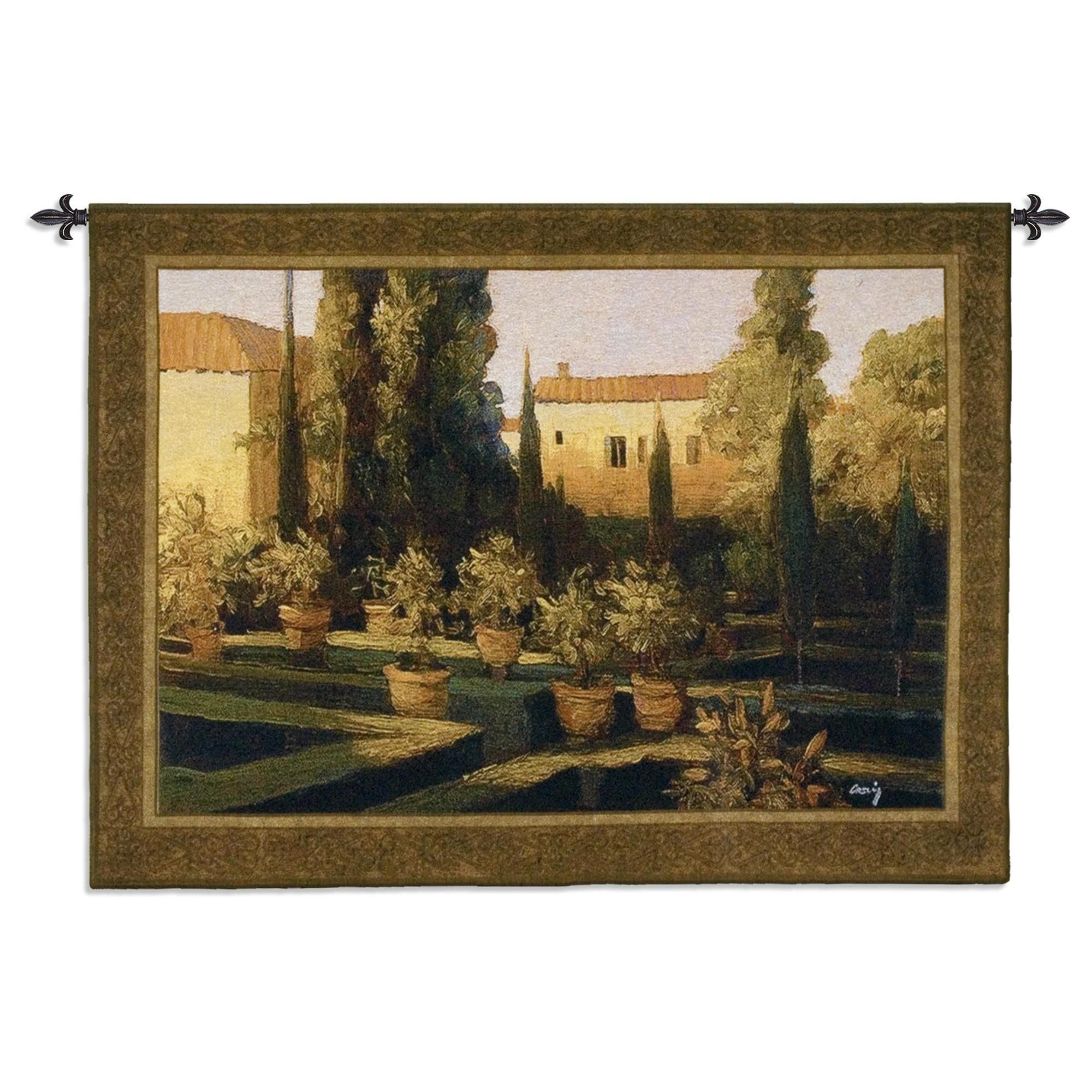 Fine art tapestries uverona gardenu cotton wall tapestry blended