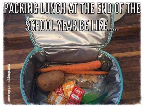 1packing Lunch At The End Of The School Year Be Like Lunchbox Humor Mom Fail Can They Just Be Done Pack Lunch Lunch Lunch Meme
