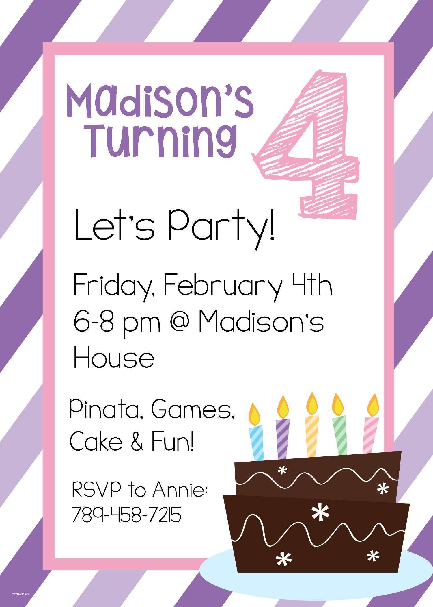 New Free Online Printable Birthday Party Invitations | Holiday ...