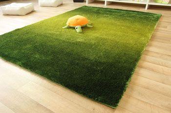 Hochflor teppich lagune soft shaggy teppich farbverlauf grün