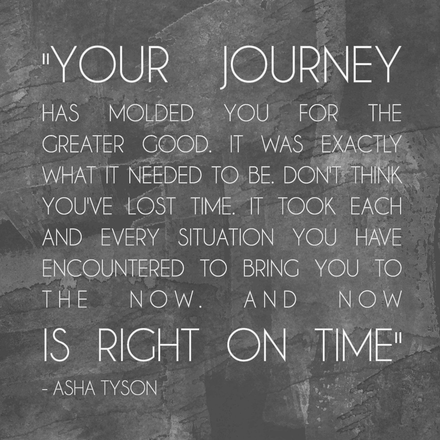 Your Journey Right on time (via Etsy)