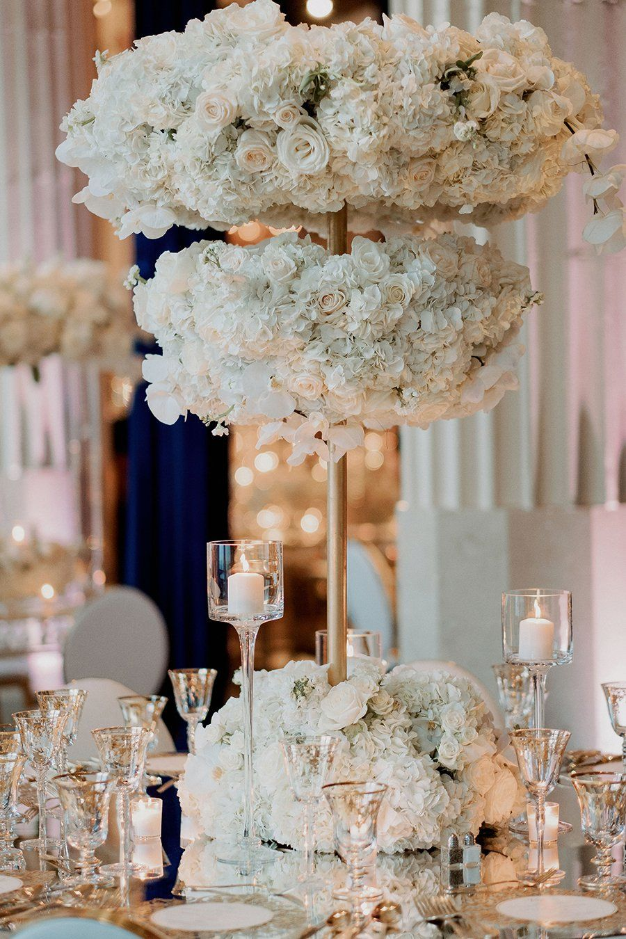 Victoria Eric Real Wedding Weddings In Houston White Floral Centerpieces Floral Centerpieces Wedding Decorations