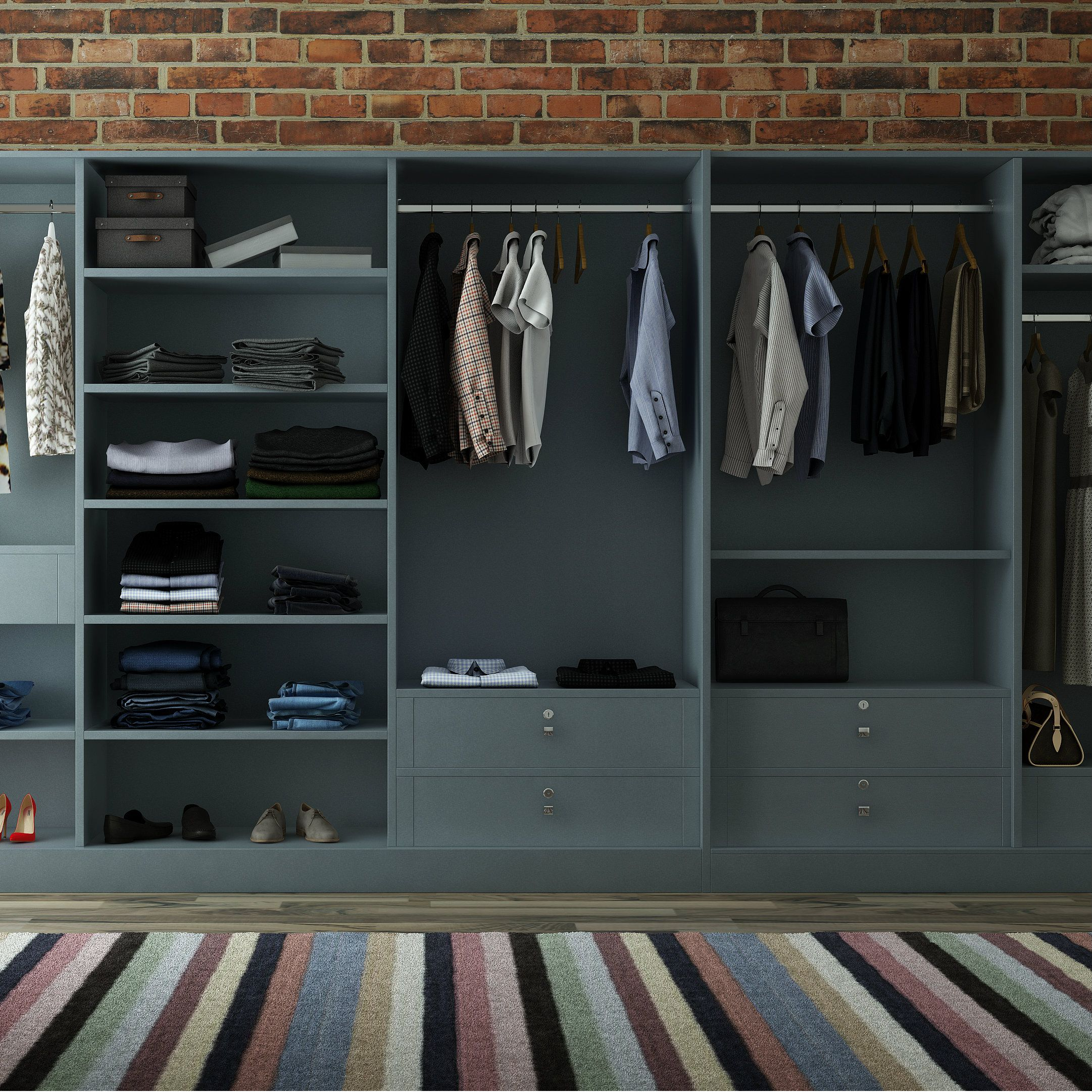 Best Sprawling Modular Wardrobe Stores Just About Anything 640 x 480