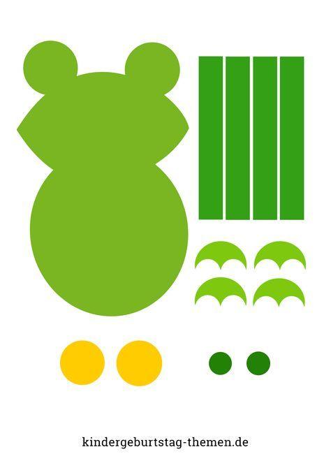 Frosch Basteln Mit Kindern Vorlage Und Anleitung Frosch Basteln Marchen Basteln Geburtstagskalender Grundschule Basteln