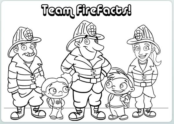 Best collection of Fire Safety Coloring Pages For Preschoolers to ...