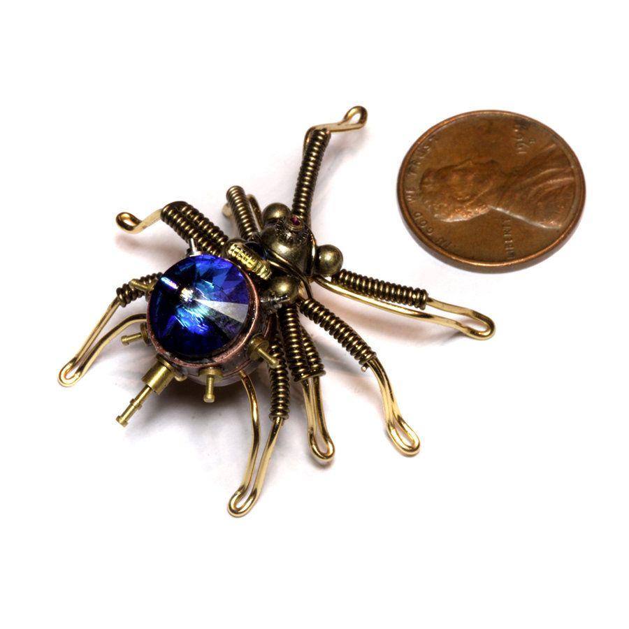 Smallest Steampunk Spider by CatherinetteRings.deviantart.com on @deviantART
