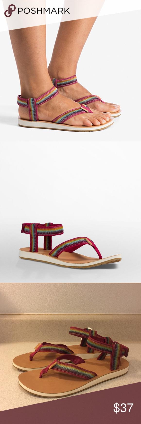 2b28ff9749f6 ❤SALE❤NWT Teva Rainbow Ombré Sandals Enjoy these NWT Teva sandals with  rainbow ombré straps. They sport a nice