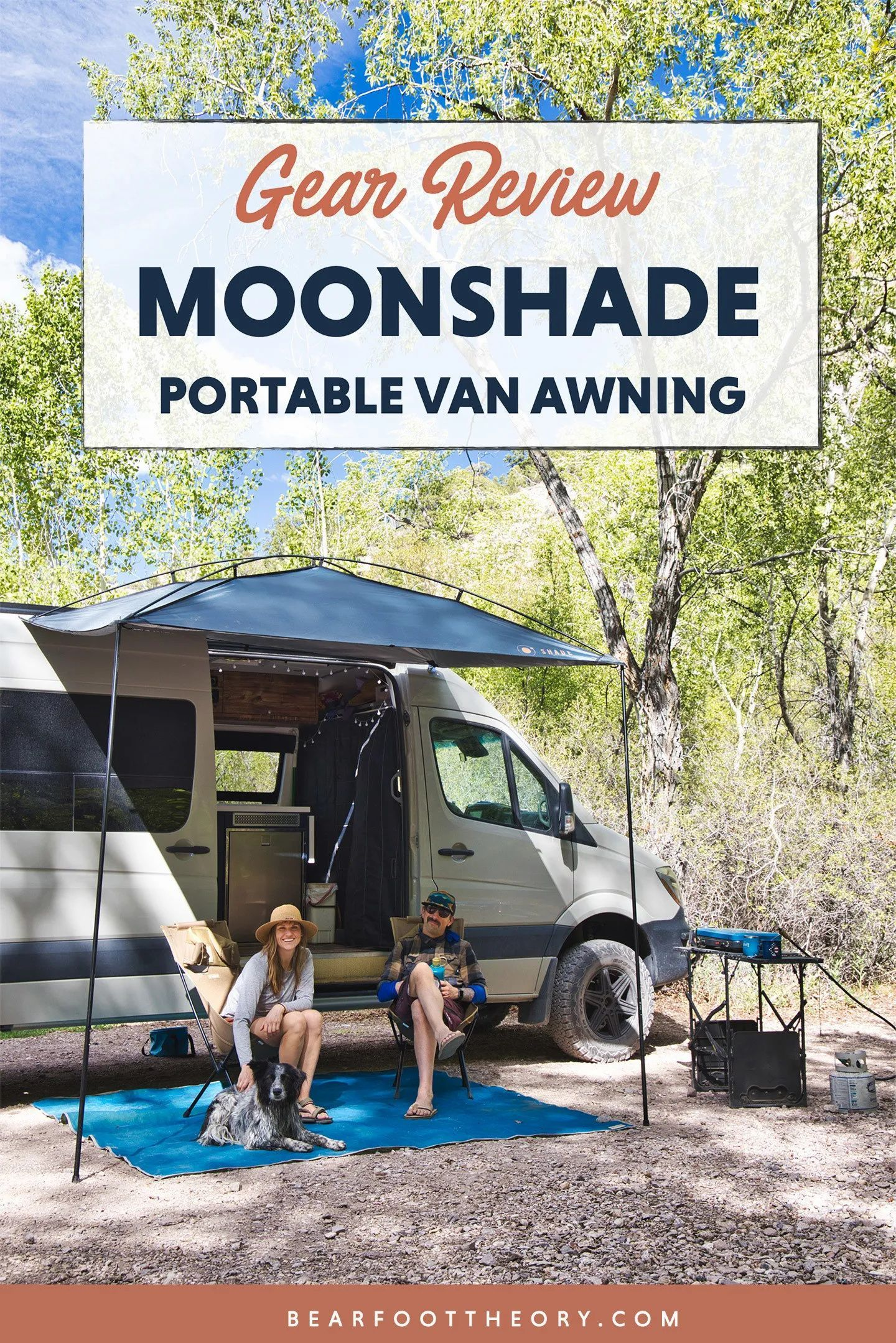 Moonshade Review A Portable Budget Friendly Van Awning Bearfoot Theory In 2020 Outdoor Gear Review Van Van Life