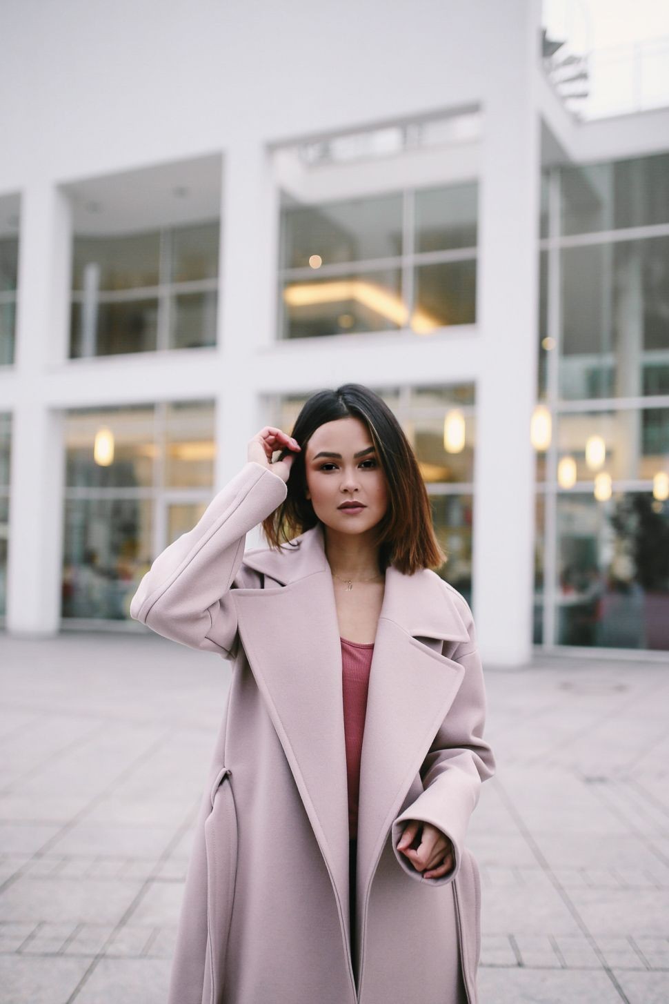the pink maxi coat   Mantel jacke, Jacken und Trenchcoats
