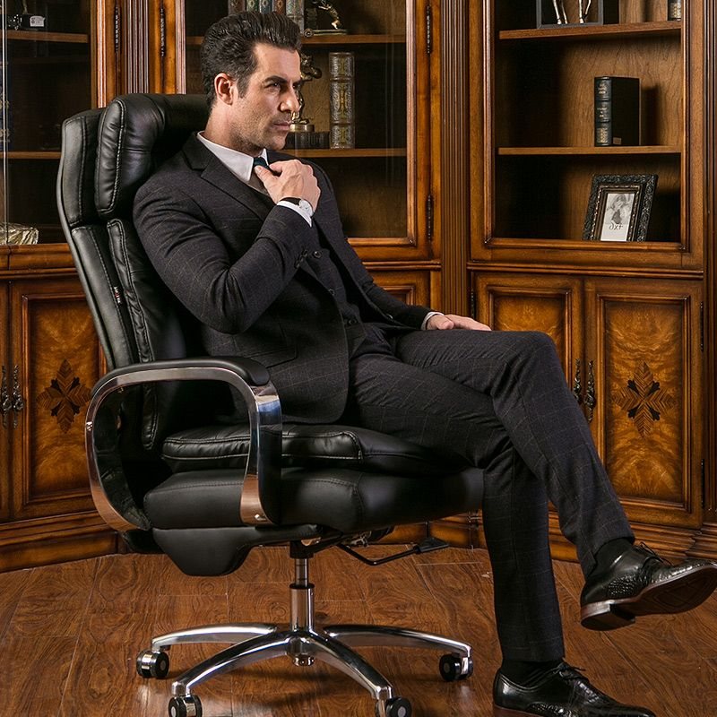high quality boss chair genuine leather computer chair home office