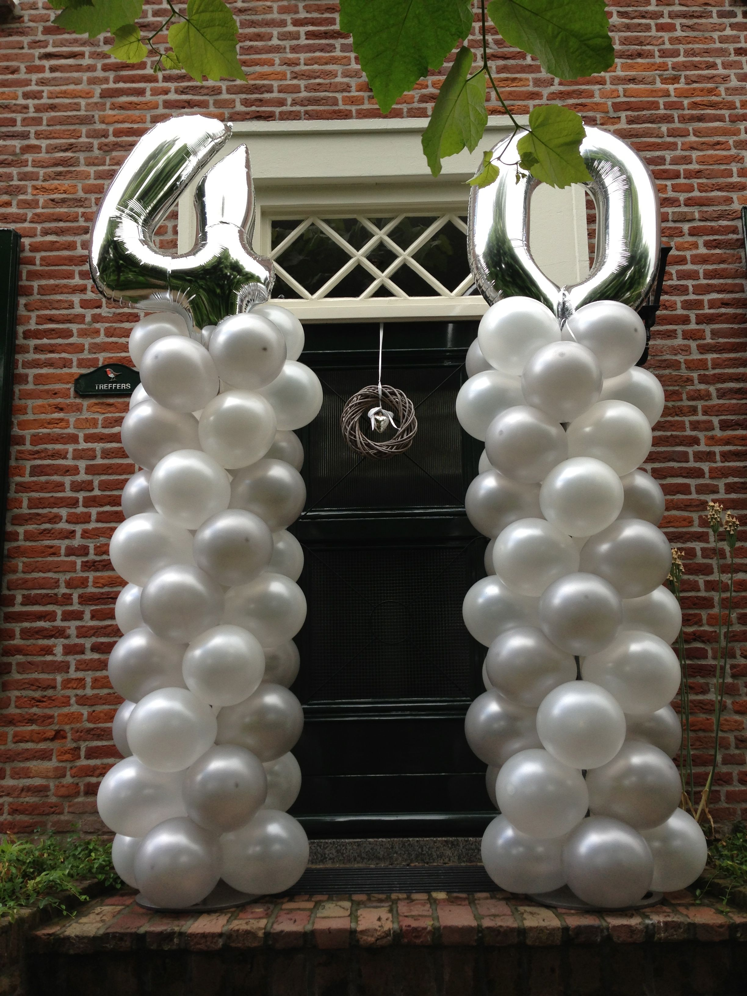 versieringen 40 jarig huwelijk 40 jarig huwelijk | Ballon Columns | Pinterest versieringen 40 jarig huwelijk