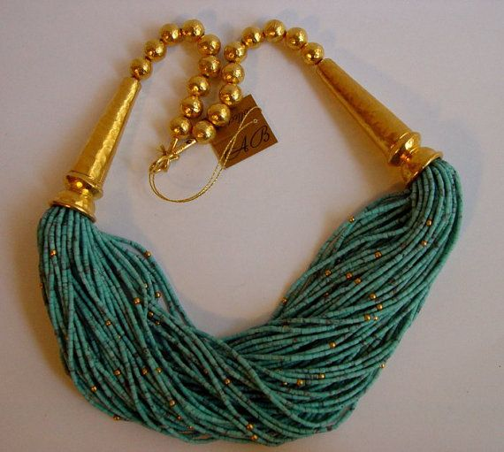 Absolutely Stunning Harem Necklace Silver Turquoise by adilbirsen, $1299.00