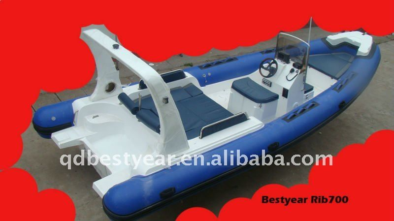 Hypalon Rigid Rib700 boat $9000~$12500 | Fishing, Crabbing