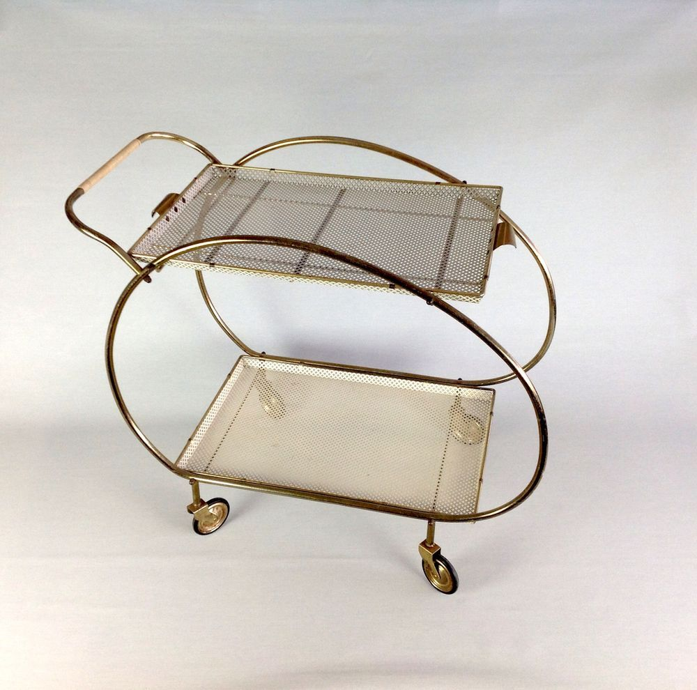 design servierwagen antik k chenwagen teewagen beistelltisch 50er vintage interior furniture. Black Bedroom Furniture Sets. Home Design Ideas