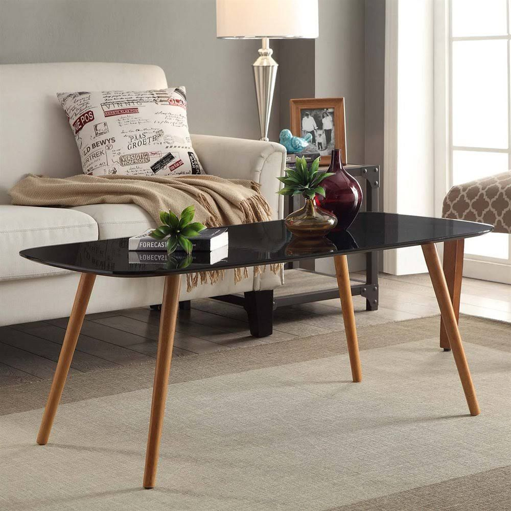Convenience Concepts 203583bl Oslo Coffee Table Black Coffee Table Rectangle Coffee Table Mid Century Modern Coffee Table [ 1000 x 1000 Pixel ]