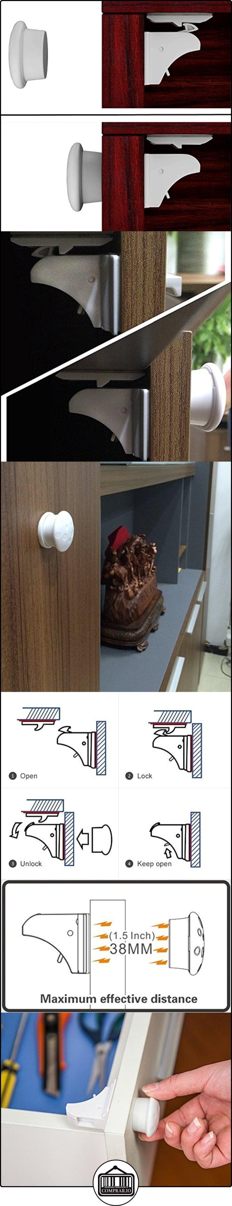 Joyoldelf cerraduras de seguridad magn tico para armarios - Cerraduras para armarios ...