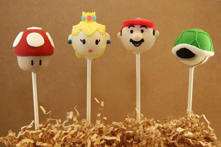 Cake pops de mario bross.