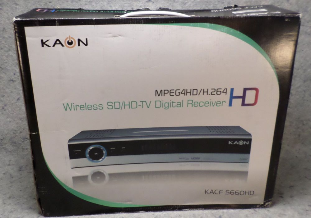 KAON KACF-S660HD Wireless SD/HD-TV Digital Receiver MPEG4HD