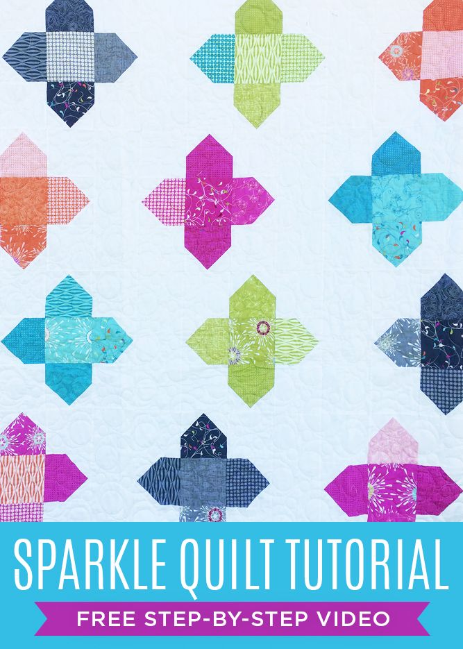 I Cant Wait To Make This Beautiful Sparkle Quilt With Jenny Doan