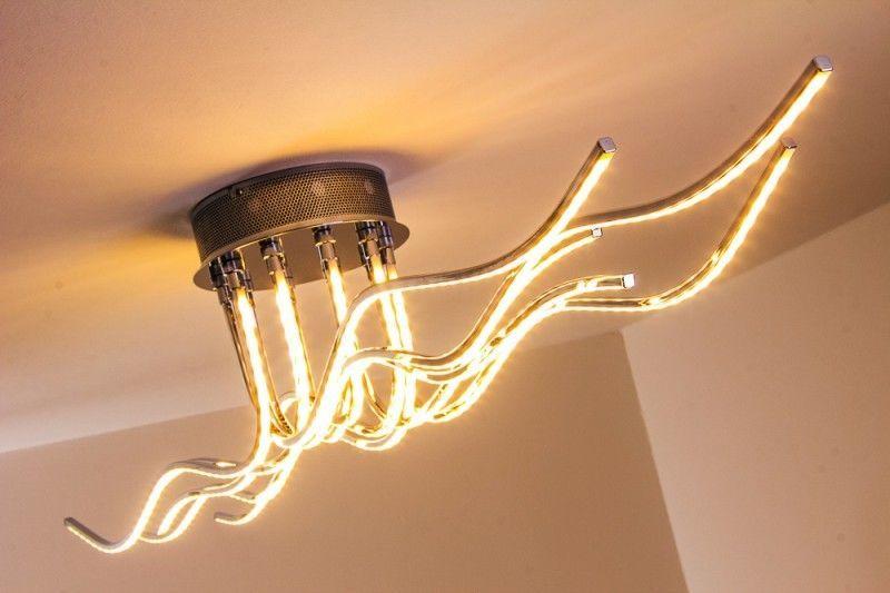 Plafoniere Rustiche Da Soffitto : Led plafoniera lampada da soffitto design salone w metallo