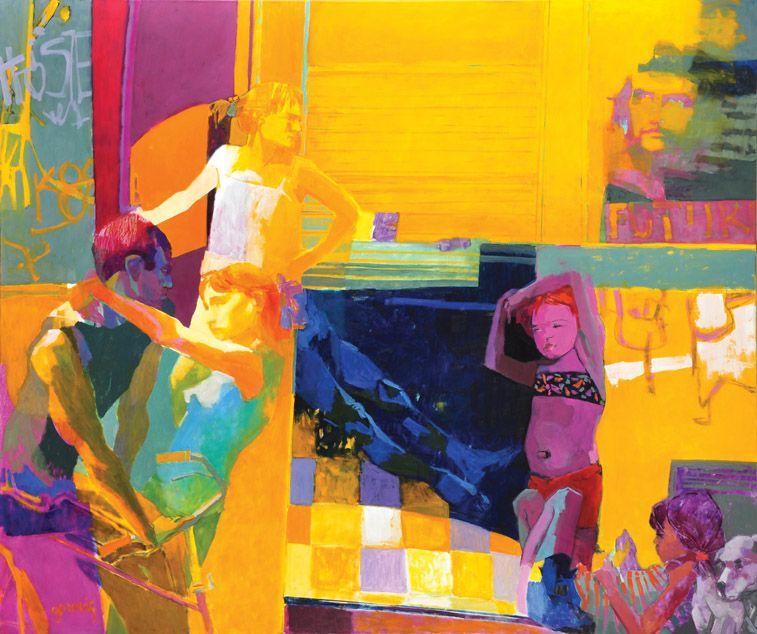 Nunca estuve en La Habana, óleo sobre lienzo, 160x190cm, 2012.  www.gracielagenoves.com.ar