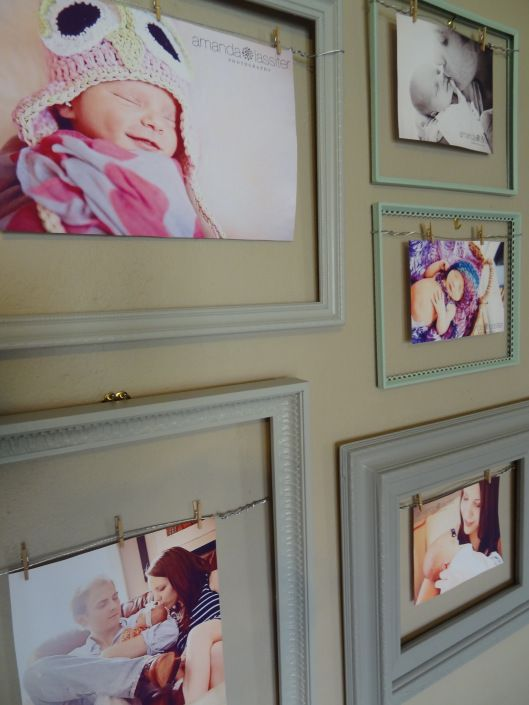 Mixed Frames With Wire And Clips So You Can Switch Pictures Or Art