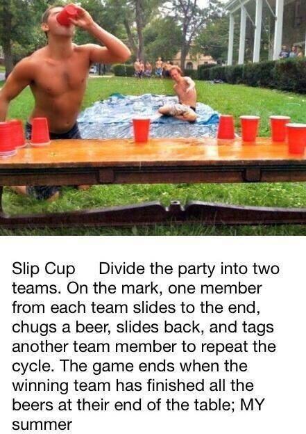 Slip Cup Flip Cup Plus A Slip N Slide Drink Ideas Pinterest