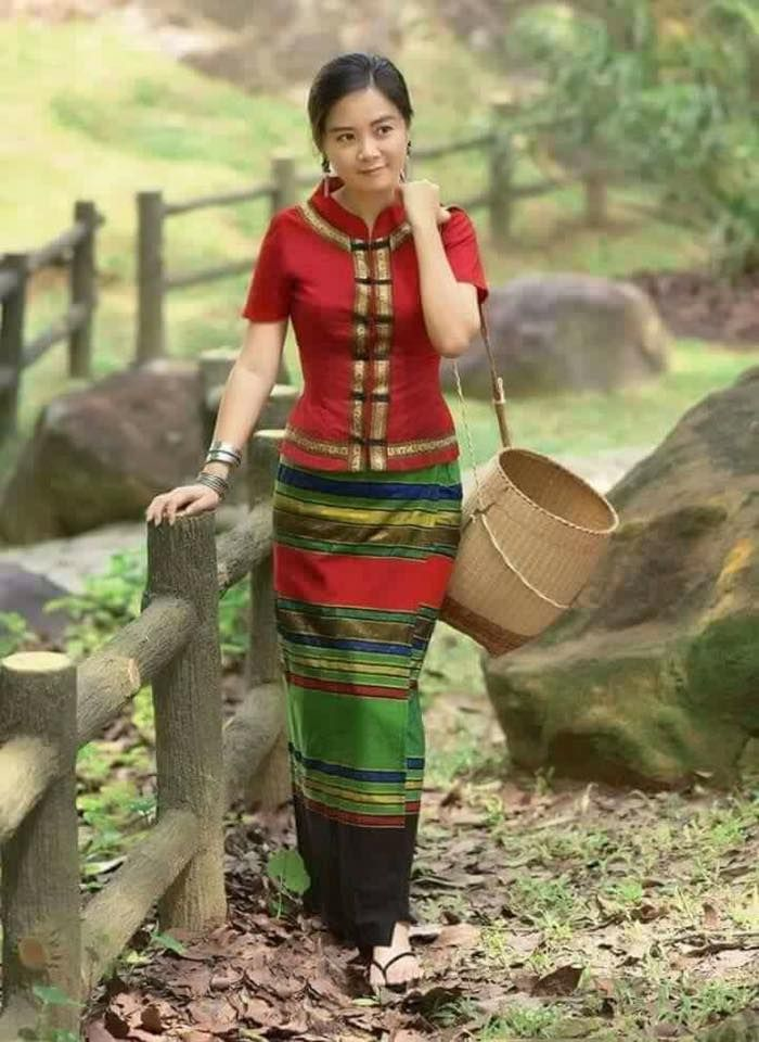 Shan Dress | Myanmar Dress | Pinterest