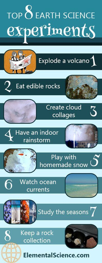 Weather rocks and volcanoes  these eight earth science experiments will help you explore these science topics