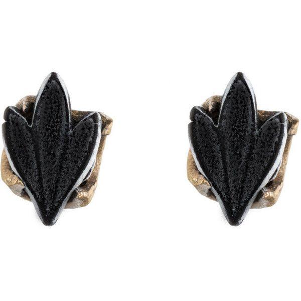 Fleur de Lis Studs (£76) ❤ liked on Polyvore featuring jewelry, earrings, fleur de lis stud earrings, stud earrings, studded jewelry, button jewelry and fleur de lis earrings