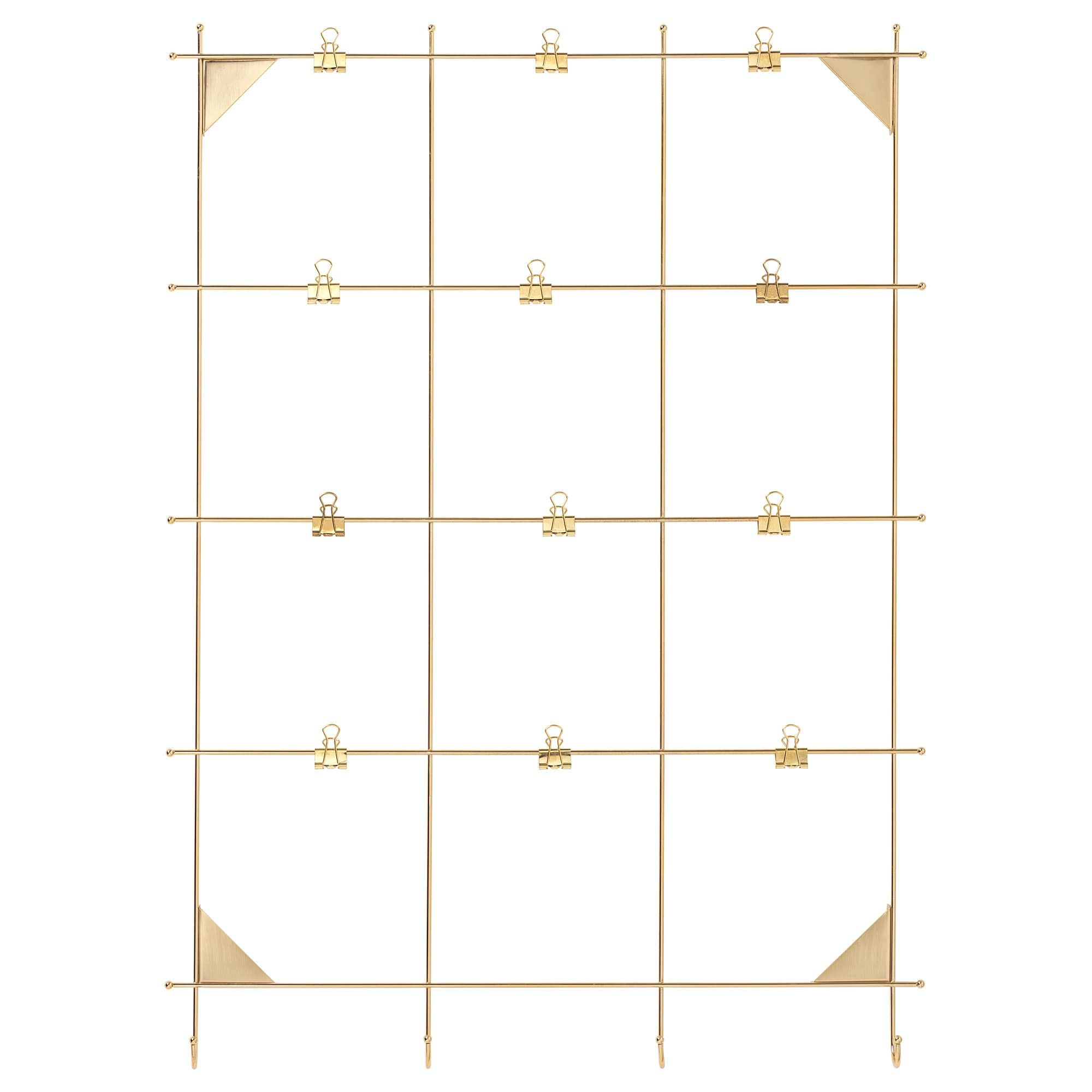 Myrheden Brass Colour Memo Board With Clips Ikea Memo Board Ikea Pictures Ikea