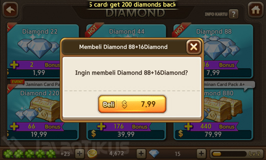 Trick Terbaru Mendapatkan Diamond Line Lets Get Rich Secara Gratis Kartu