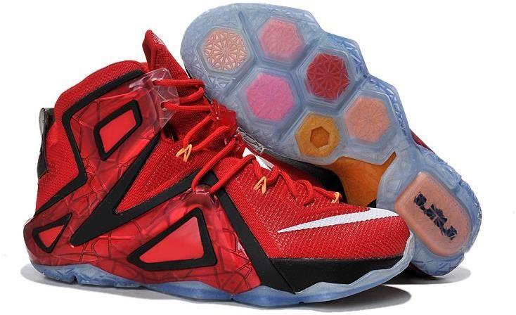 purchase cheap e1b50 eccec Nike Lebron 12 (XII) Fire Red Black White   Lebron 12 Mens for sale ...