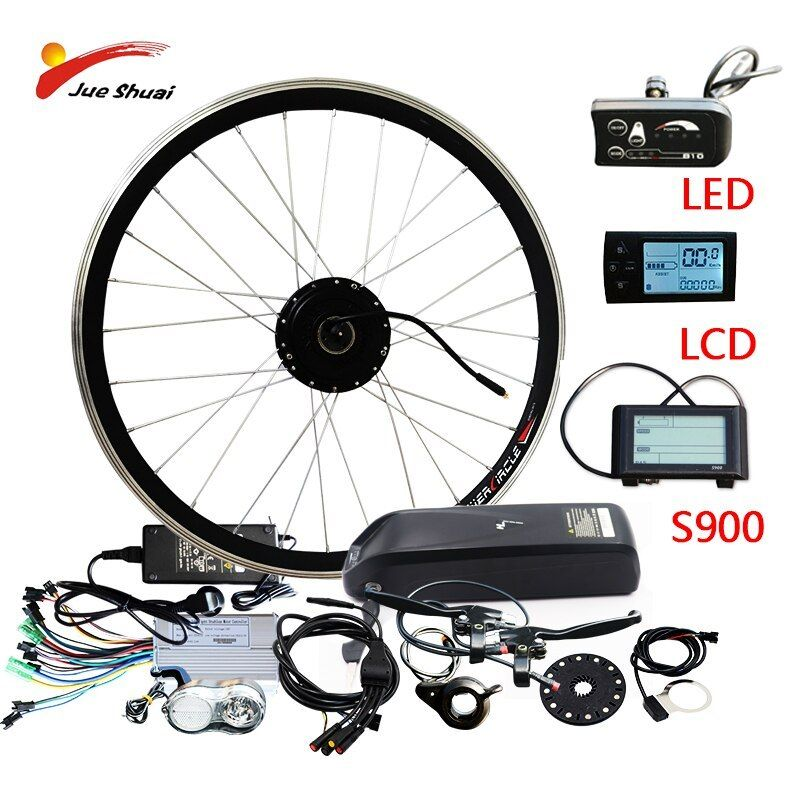 250w 500w Electric Bike Conversion Kit With Lithium Battery Front