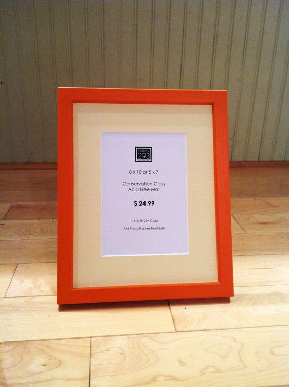 8 x 10 Orange Frame with 5 x 7 Soft Yellow Mat by Gallery293, $24.99