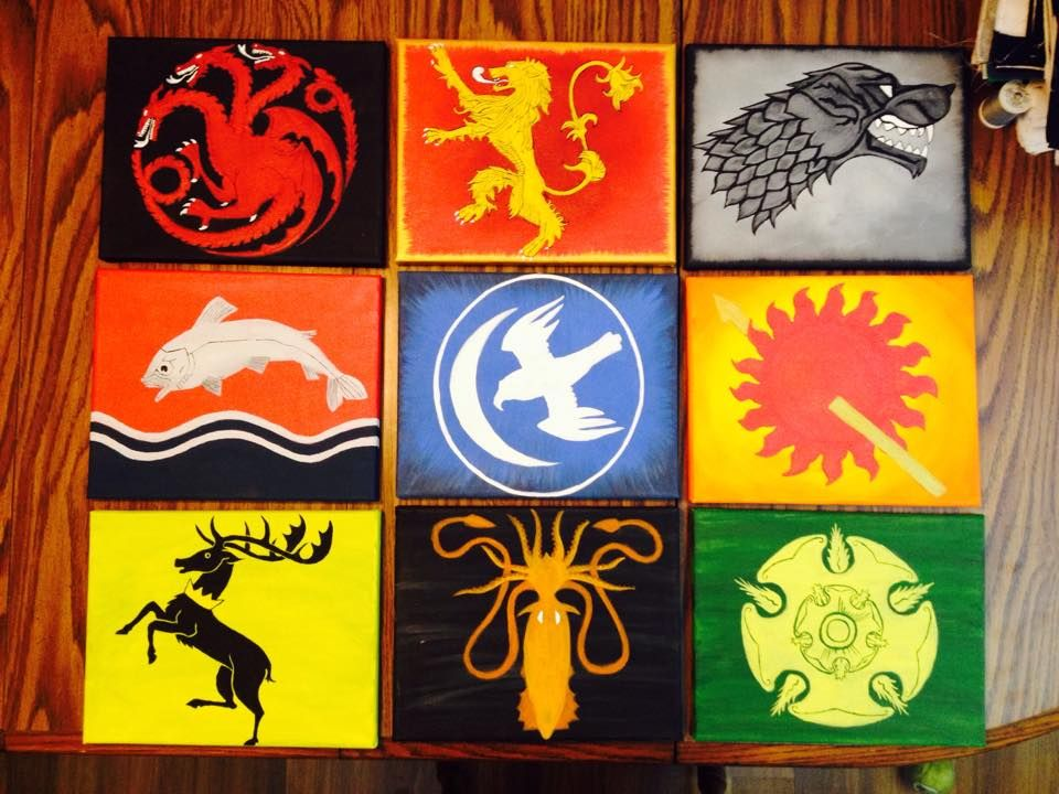 Game Of Thrones House Sigils I Painted These As A Set For A