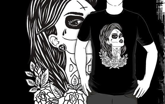 Pin By Iza Antoniuk On Redbubble Santa Muerte Shirts T Shirt