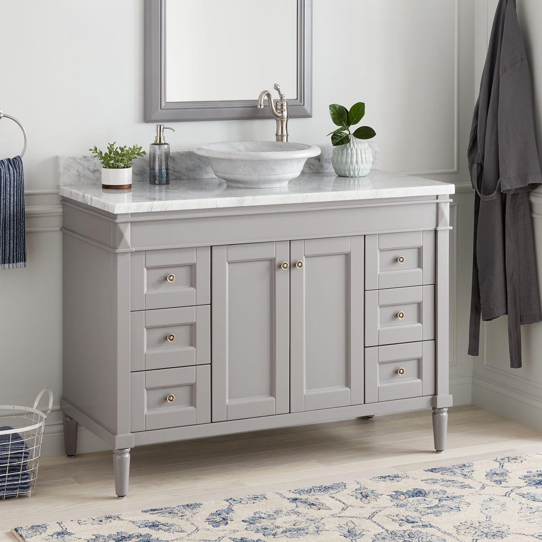 48 chapman vessel sink vanity gray