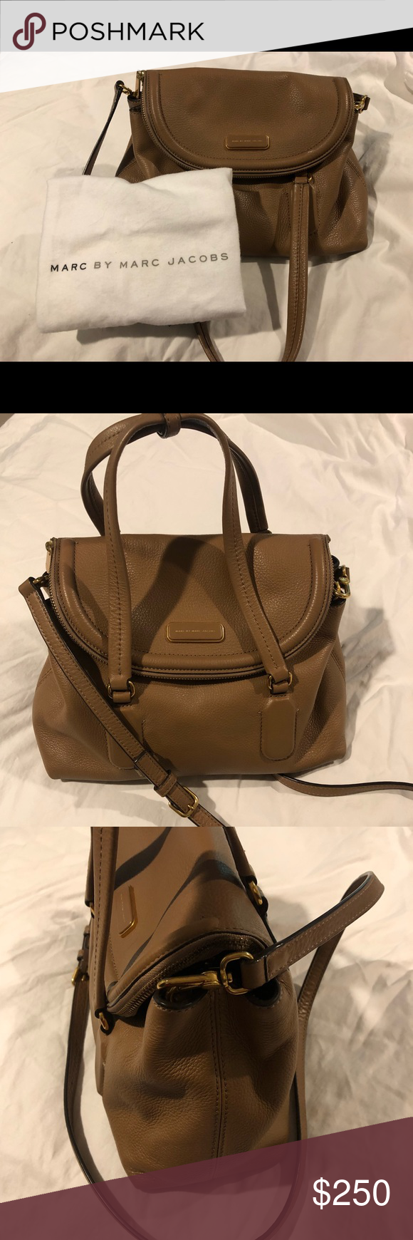 a7782e14f7 Marc by Marc Jacobs Silicone Valley Small Satchel Top-handle Light  Chocolate leather bag featuring zippered flap and tonal feet 14.6 x 13.9 x  5.4 inches ...