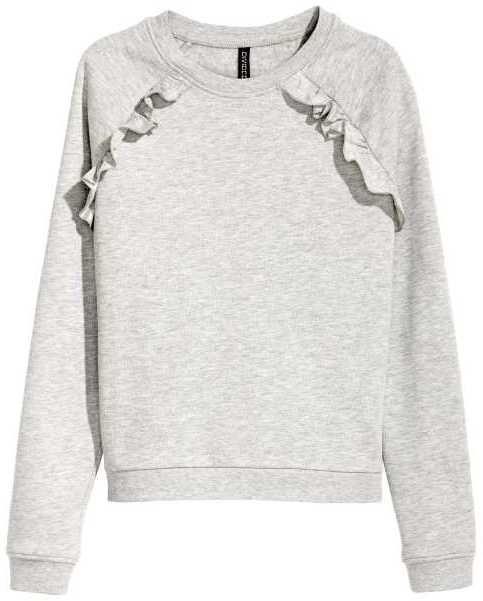 214853b4366 H M Sweatshirt with Ruffles