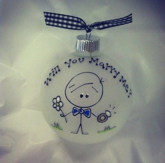 Heiraten Sie mich, Vorschlag Ornament, Weihnachtsgeschenk, Pop die Frage   – Products
